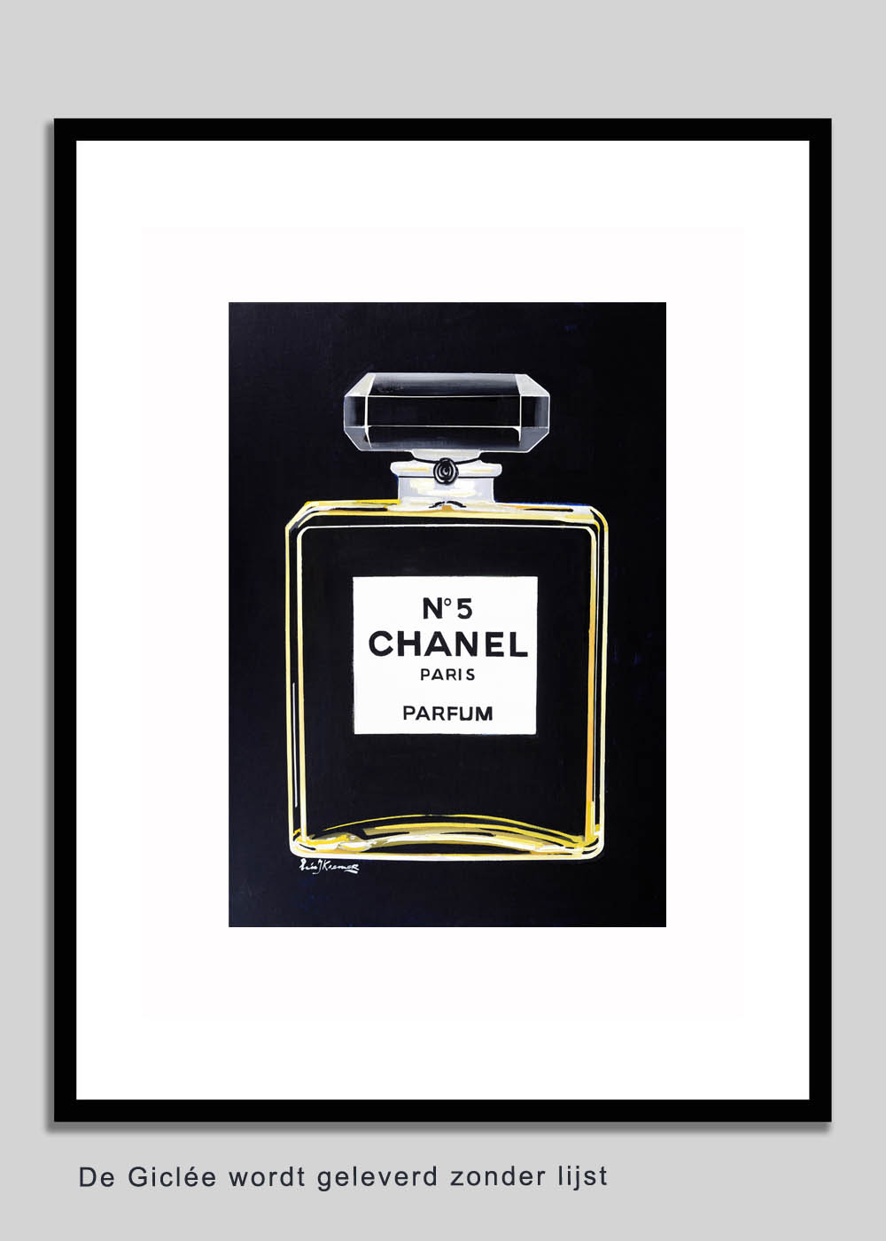 CHANEL BLACK | GICLEE | MIXED TECHNIQUE