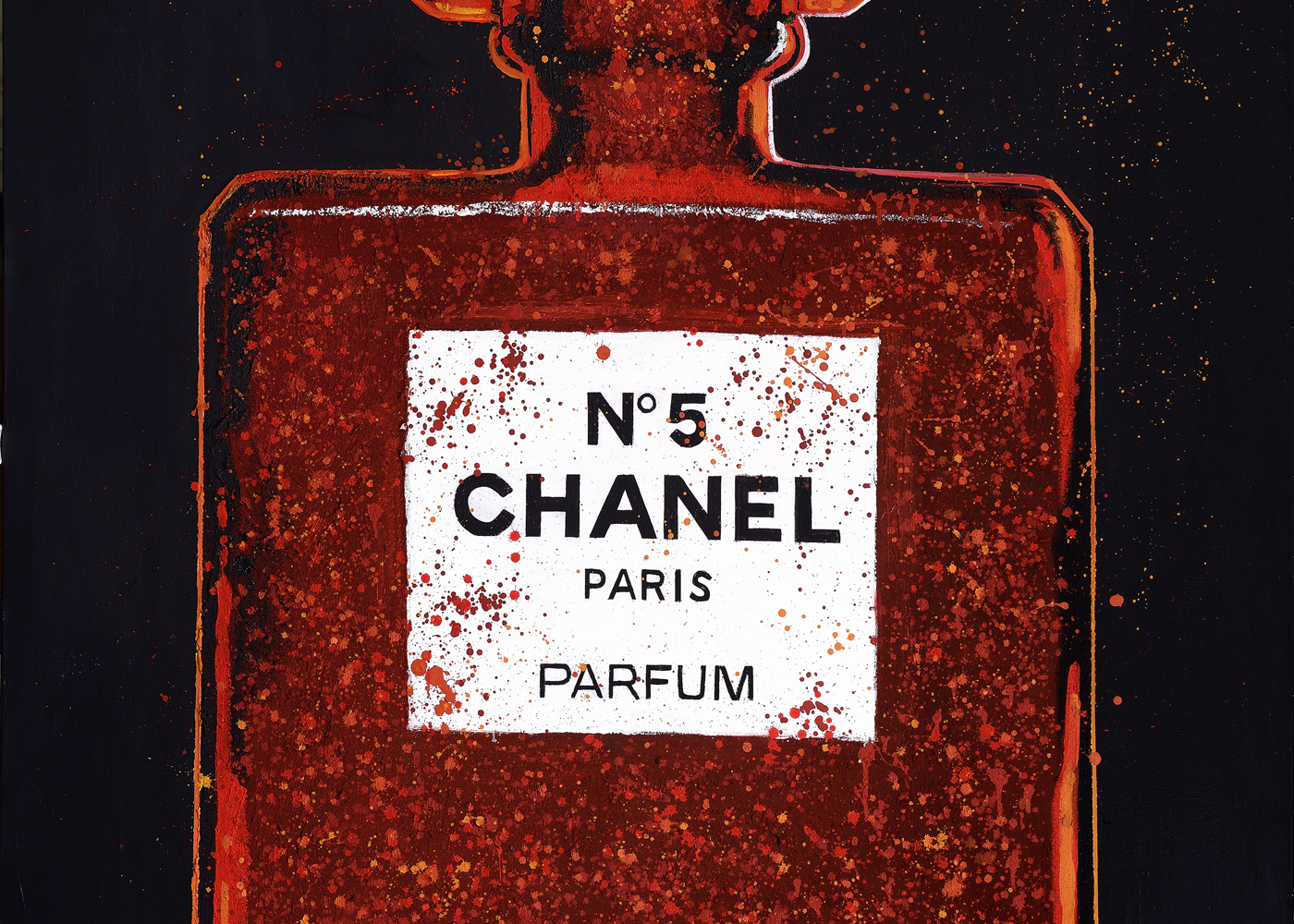 CHANEL RED | GICLEE | MIXED TECHNIQUE